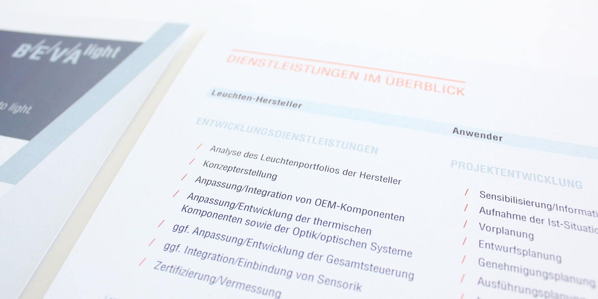 Corporate Design - Produktliteratur - BEVAlight
