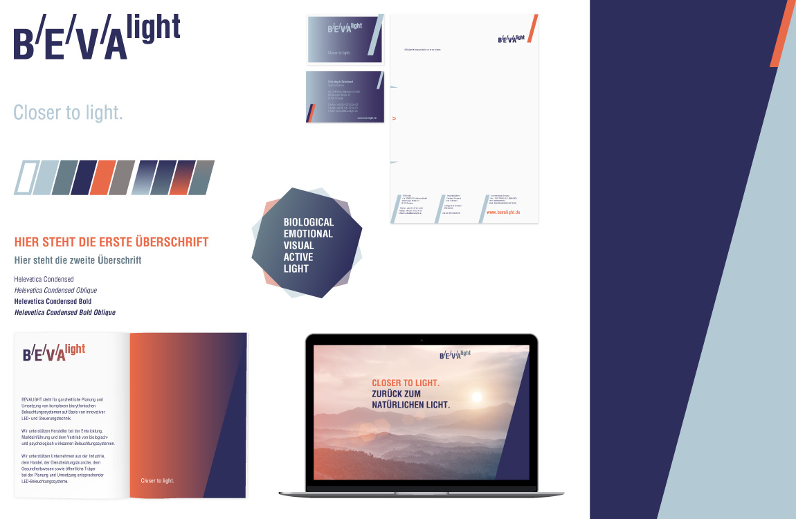 Corporate Design - Markenwelt - BEVAlight