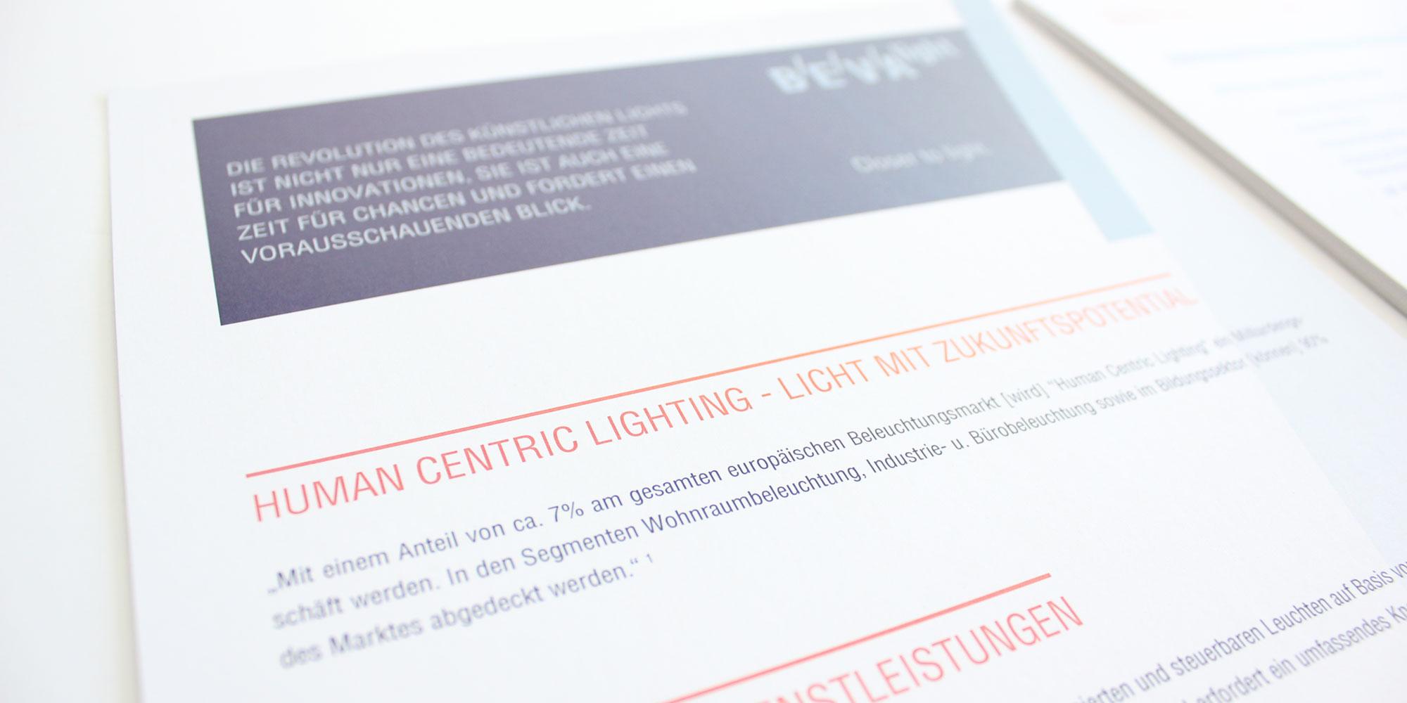 Corporate Design - Markenwelt - BEVAlight