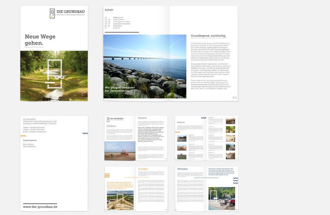 Corporate Design - Image- und Kompetenzbroschüre - Die Grundbau