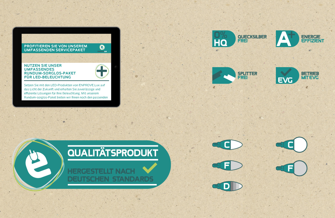 Corporate Identity - Produktliteratur und Datenblätter - ENPROVEMENT