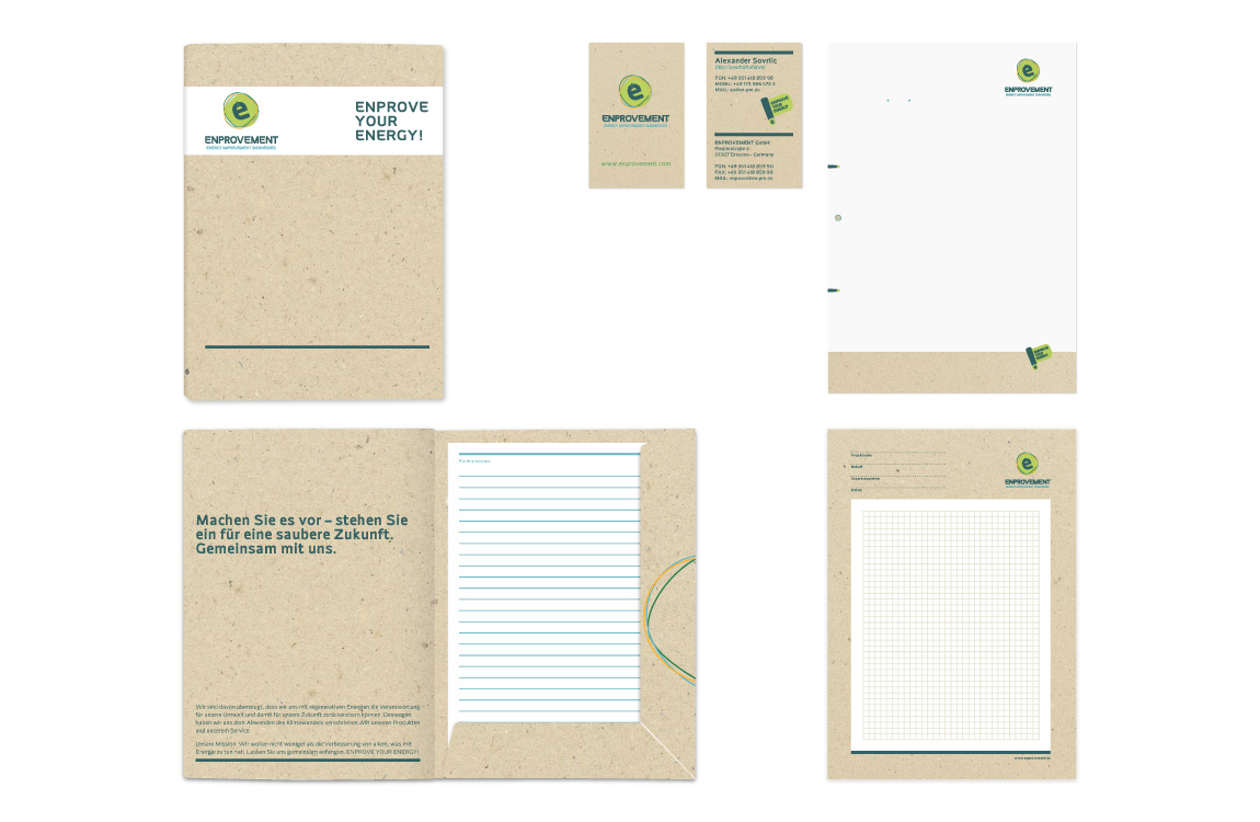 Corporate Identity - Geschäftsausstattung - ENPROVEMENT