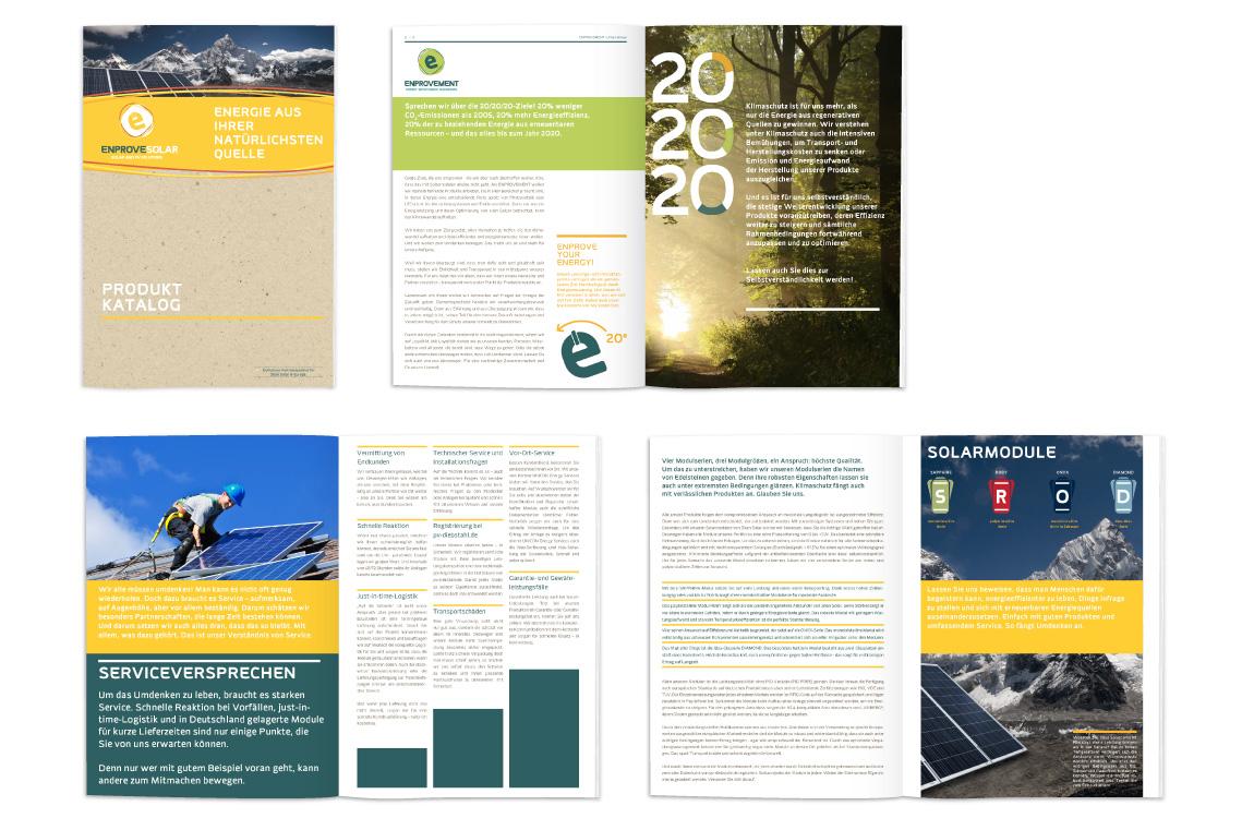 Corporate Identity - Produktliteratur Datenblätter - ENPROVEMENT