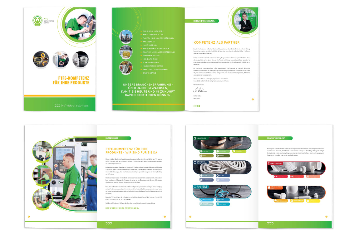 Corporate Design - Imagebroschüre - PTFE CC