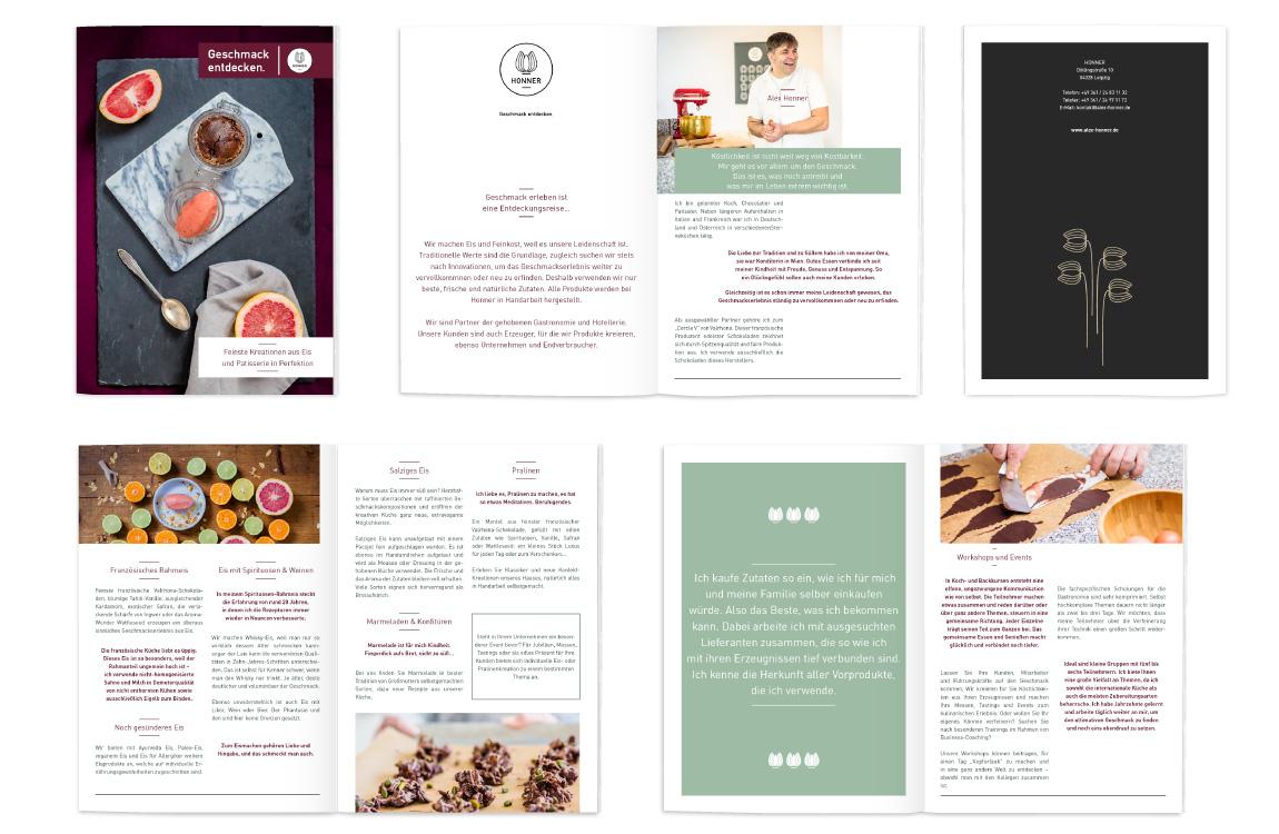 Imagebroschüre und Design - Honner