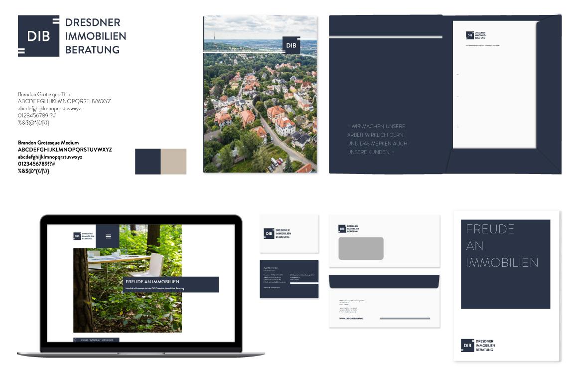 Markenwelt + Corporate Design - DIB Dresdner Immobilien Beratung GmbH